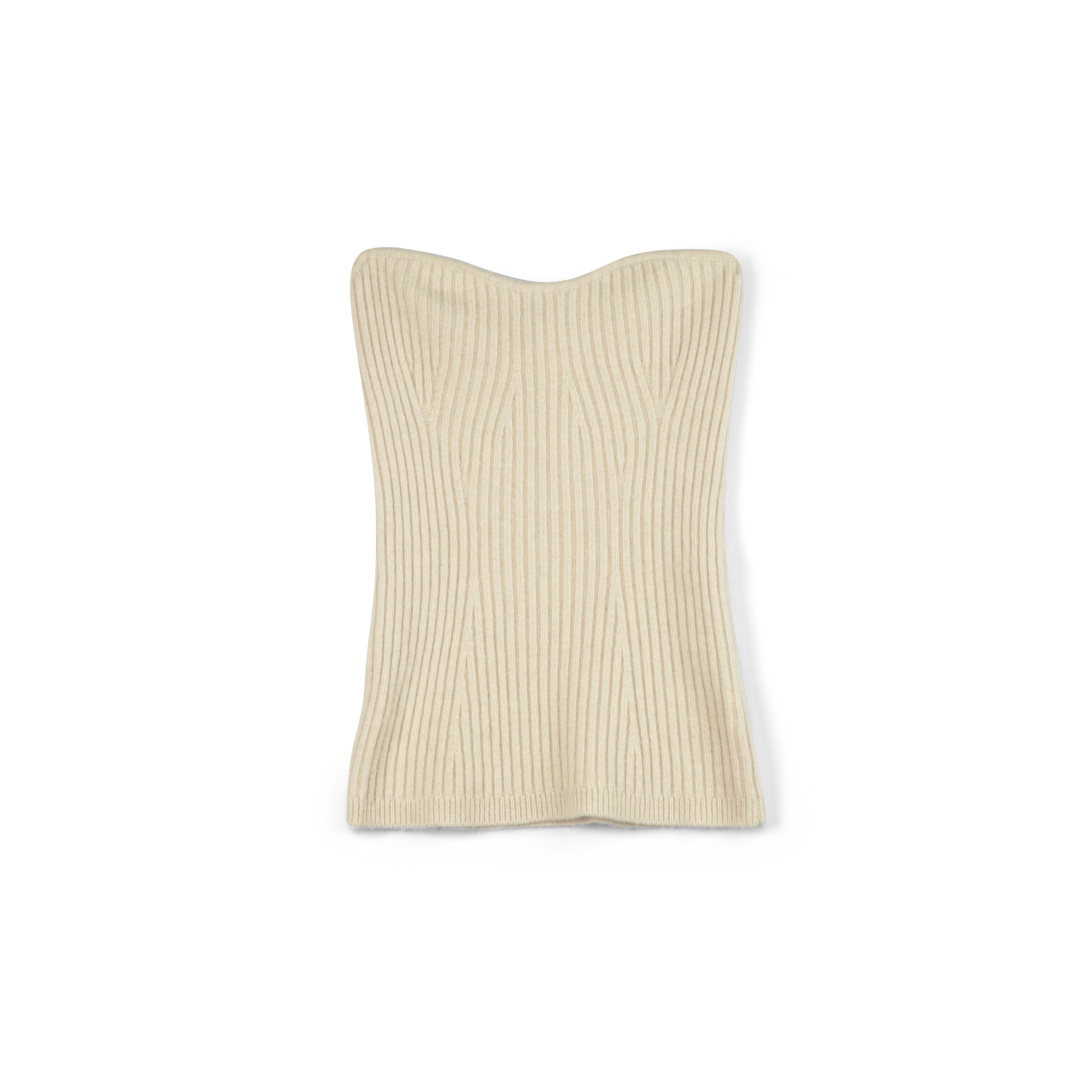 Soft goat tube-top beige