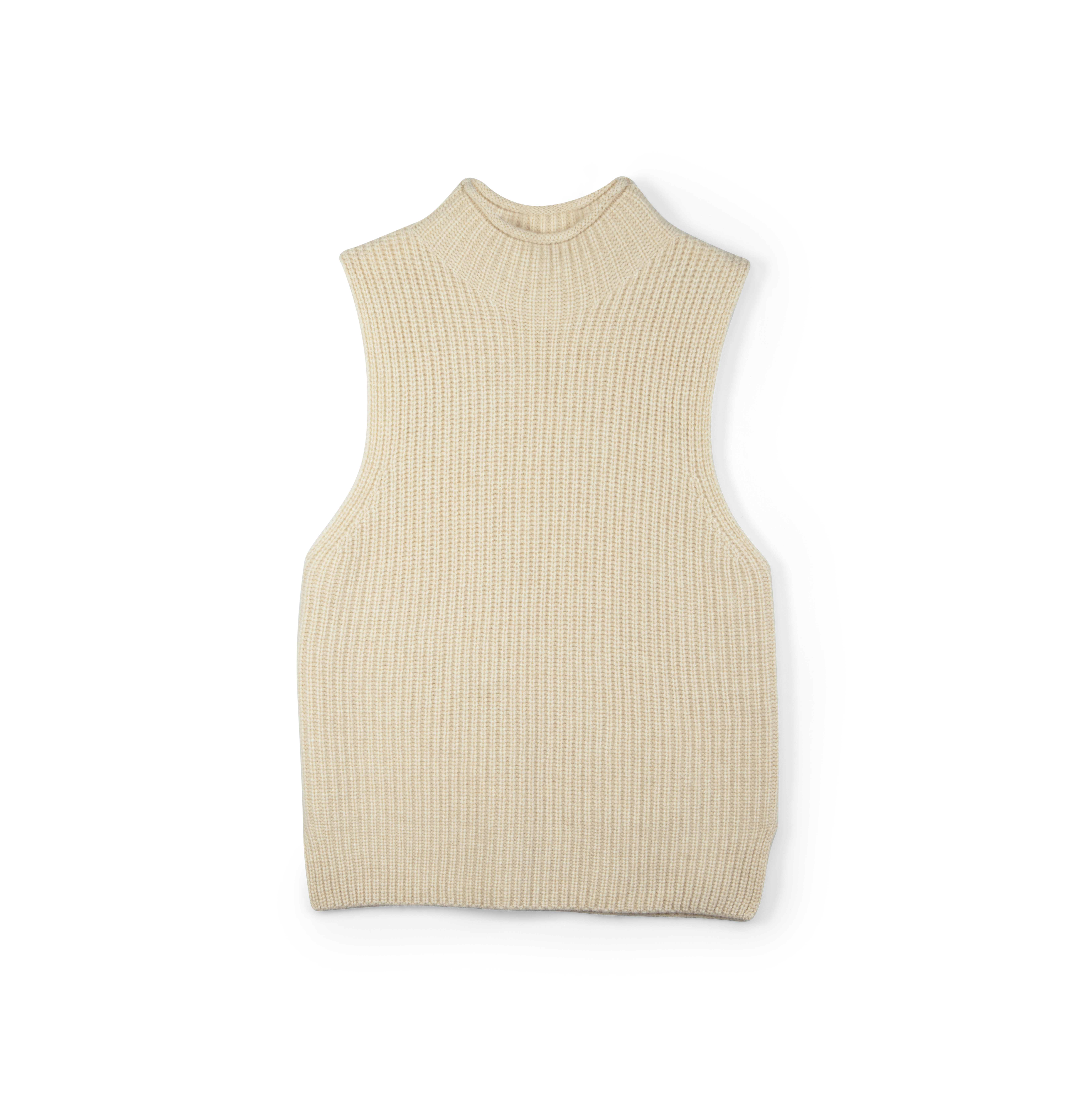 high neck vest fra soft goat